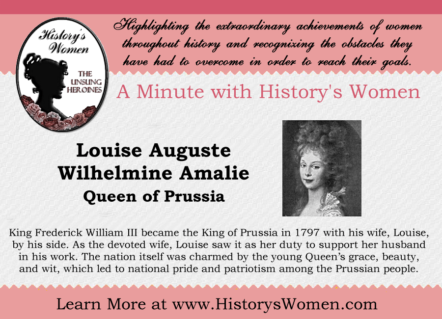 Women who Ruled: Queen Louise of Prussia from HistorysWomen.com