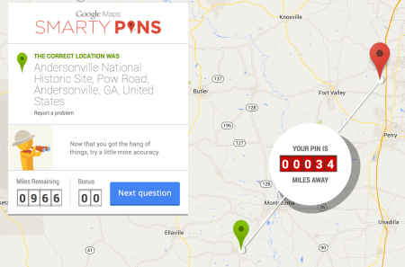 smarty pins correct location