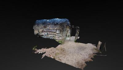Wampanoag Homesite Wetu 3D Model