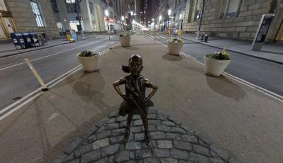 Fearless Girl versus Charging Bull 3D Model