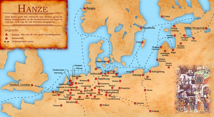 Hanseatic League Map