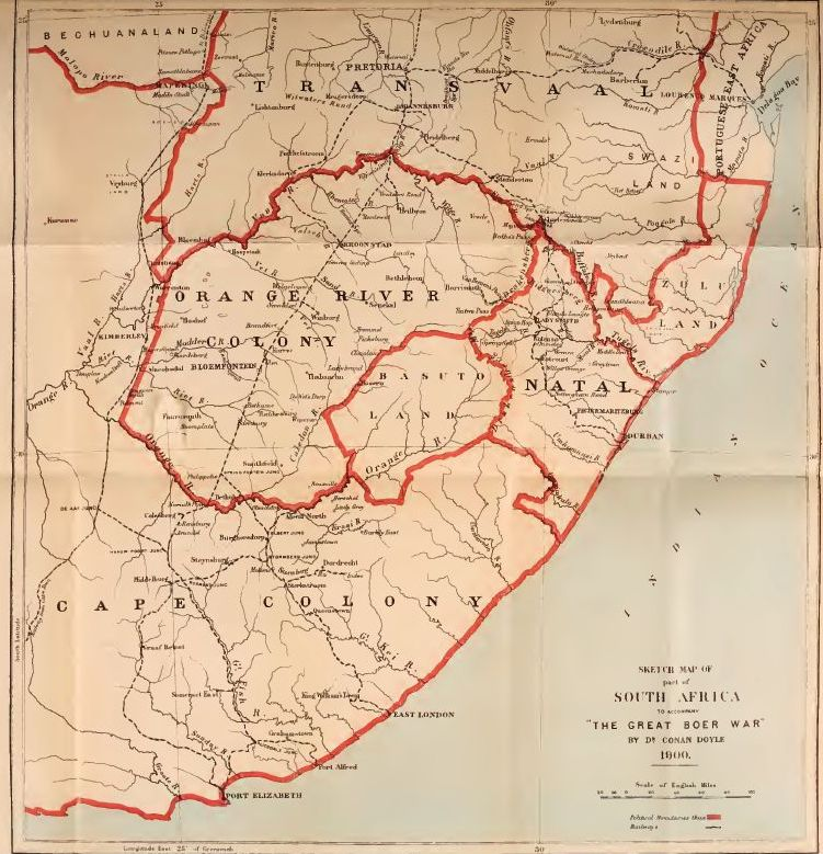 Map of Boer War