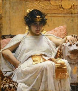 Cleopatra by John William Waterhouse, 1888. Public domain image from Wikipedia.