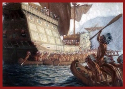 Champlain Arrives at Quebec