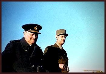 Churchill and De Gaulle 1944