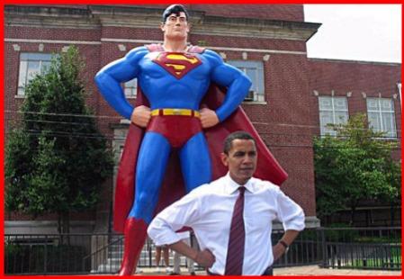 Obama\'s Superman Pose