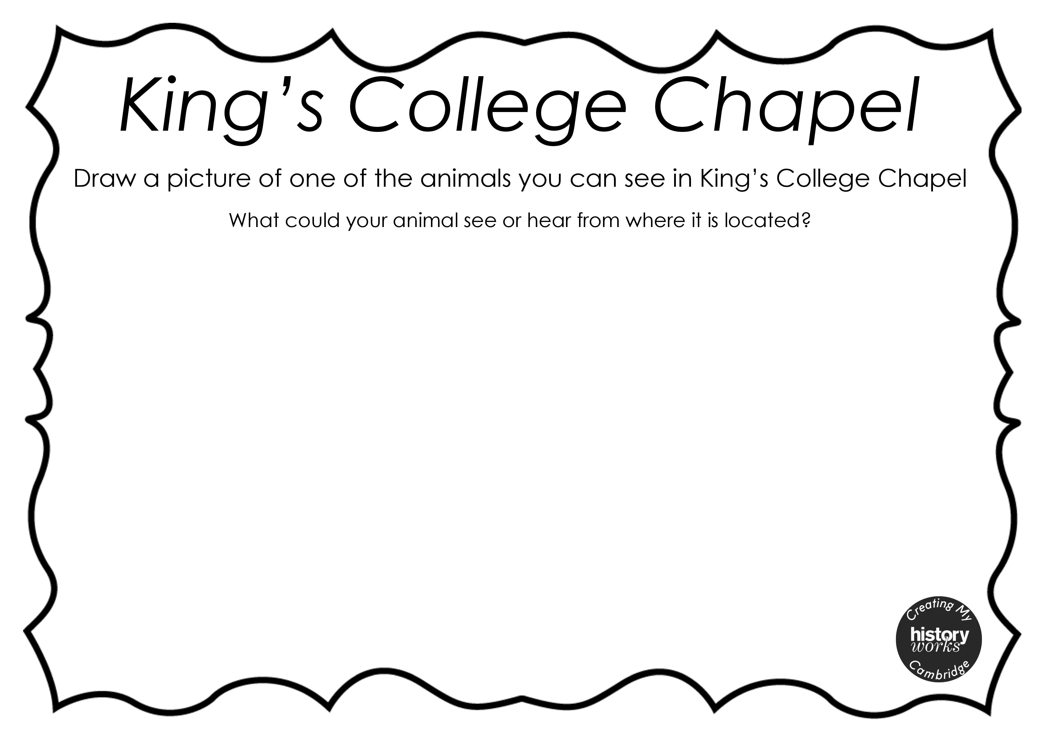 King S College Chapel Worksheets Creating My Cambridge