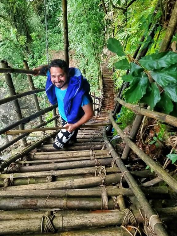 India trekking - Kudengrim Bamboo Bridge