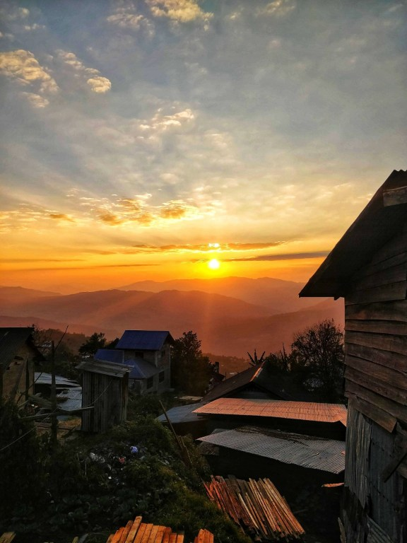 Sunset at Ukhrul, Manipur