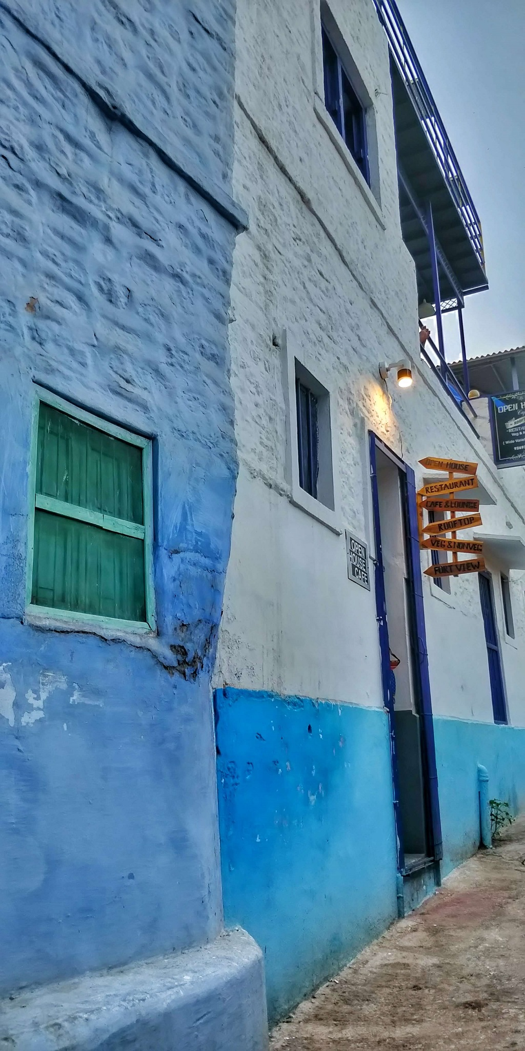 Walls of buildings painted in different shades of blue - Jodhpur blue city