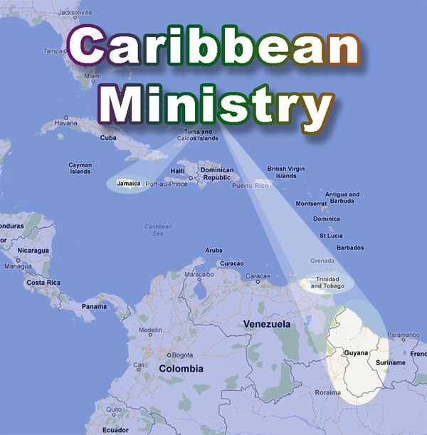 Caribbean Ministry Map