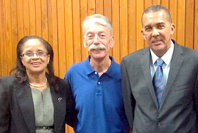 Dr. Judith Henry, Hospital Christian Fellowship; Pastor Phillip Lee, His Way Out Ministries; His Excellency, Anthony Carmona, President of the Republic of Trinidad and Tobago