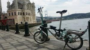 folding bike around the world, brompton in istanbul, bike holiday
