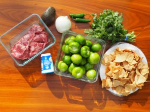 These are the ingredients for the chilaquiles