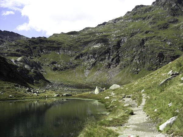 Wandern zu den Spronser Seen in Südtirol