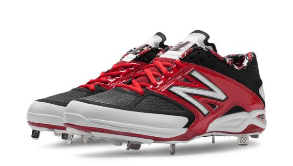 New Balance L4040BR2 - Red/Black Low Baseball Spikes