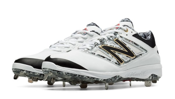 New Balance L4040PW3 - Wht/Gry Pedroia Low Cut 4040v3 Spikes