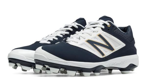 New Balance PL4040N3 - Navy/White Low Rubber Baseball Cleats