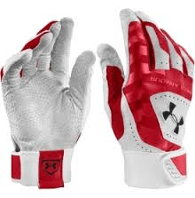 Under Armour Adult Yard Batting Gloves - Red/White