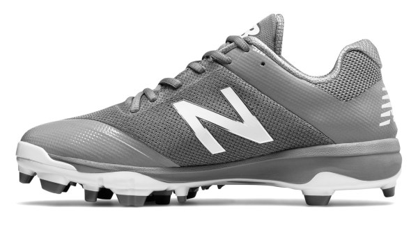 New Balance PL4040G4 - Grey/White Low Rubber Baseball Cleats