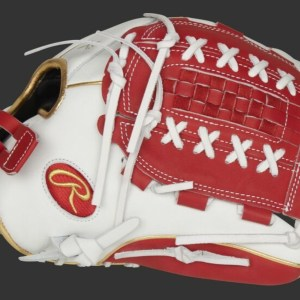 """Rawlings Liberty Advanced 12.5"""" Fastpitch Glove - White/Red (RLA125-18S)"""