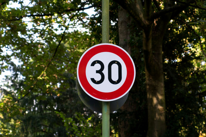 Speed sign data from 16-31 January 2019