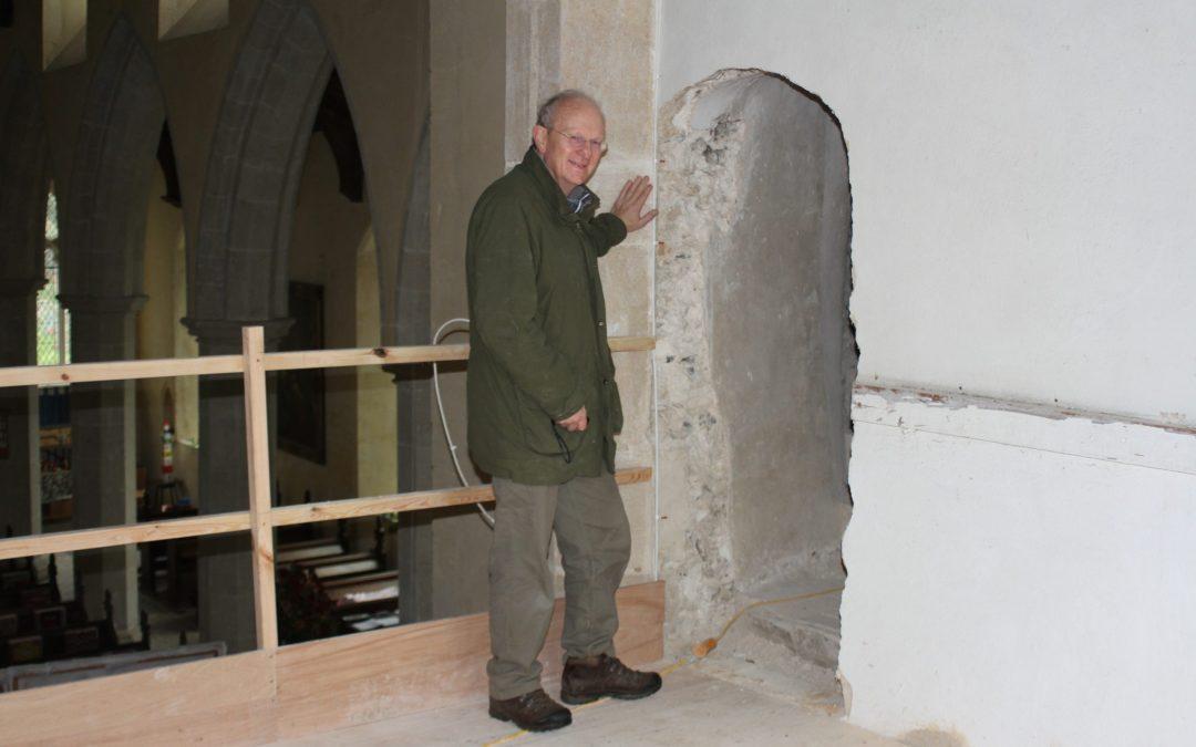 Bricked up church door reveals hidden secrets