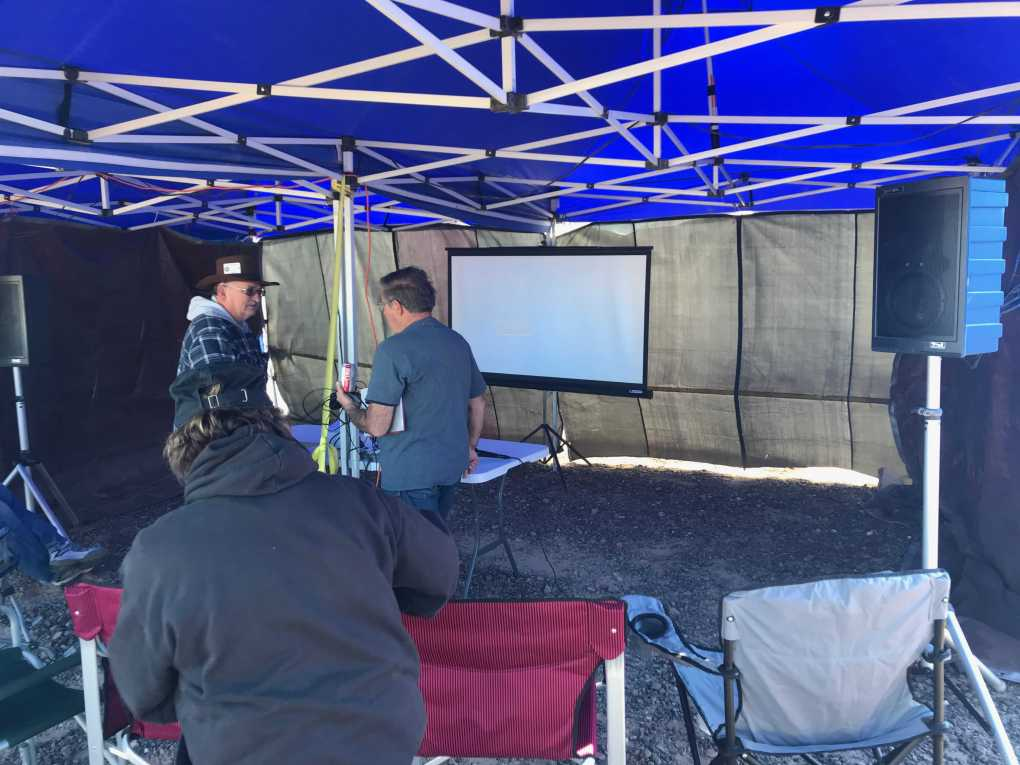 Quartzfest 2019 Audio Visual Set Up While Boondocking