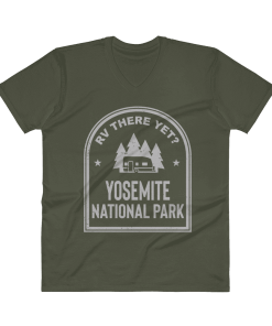 RV There Yet? Yosemite National Park V-Neck (Men's) City Green