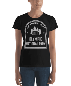 RV There Yet? Olympic National Park T-Shirt (Women's) Black