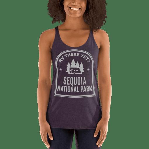 RV There Yet? Sequoia National Park Racerback Tank (Women's) Vintage Purple
