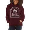 RV There Yet? Glacier National Park Hooded Sweatshirt (Unisex) Maroon