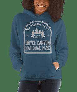 RV There Yet? Bryce Canyon National Park Hooded Sweatshirt (Unisex) Indigo Blue