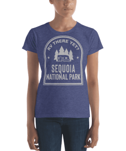 RV There Yet? Sequoia National Park T-Shirt (Women's) Heather Blue
