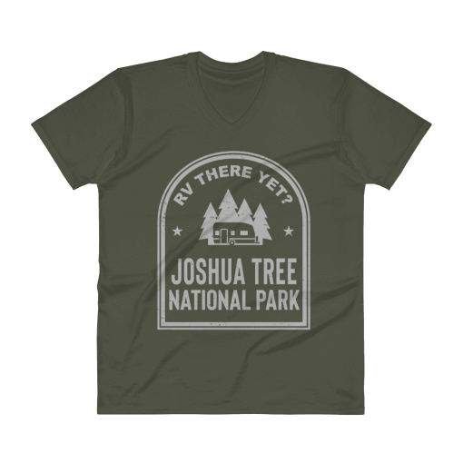 RV There Yet? Joshua Tree National Park V-Neck (Men's) City Green