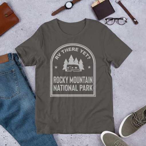 RV There Yet? Rocky Mountain National Park T-Shirt (Unisex) Asphalt