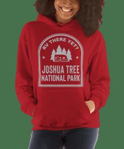 RV There Yet? Joshua Tree National Park Hooded Sweatshirt (Unisex) Red