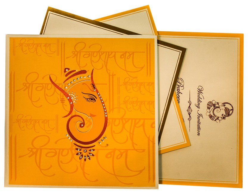 Ganesha Themed Wedding Cards With Hindu Shlokas