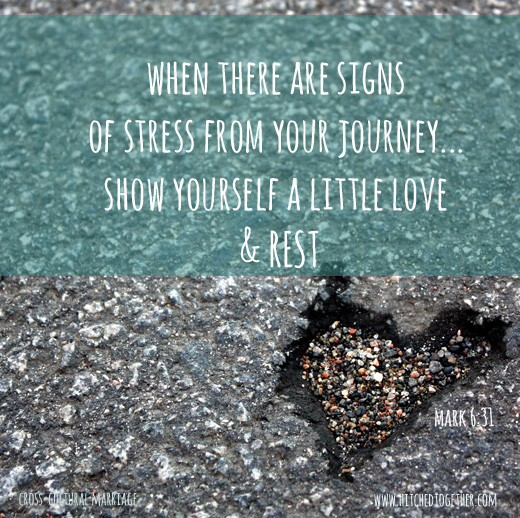 when there are signs of stress from your journey... show yourself a little love & REST