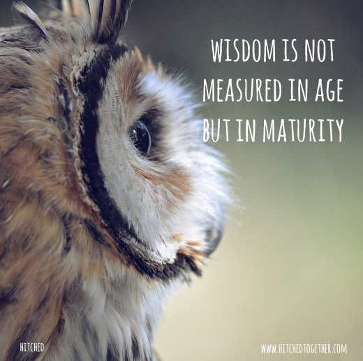 wisdom is not measured in age but in maturity
