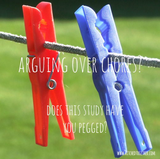Arguing over chores? Does this study have you pegged?