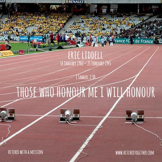 Those who honour me, I will honour.