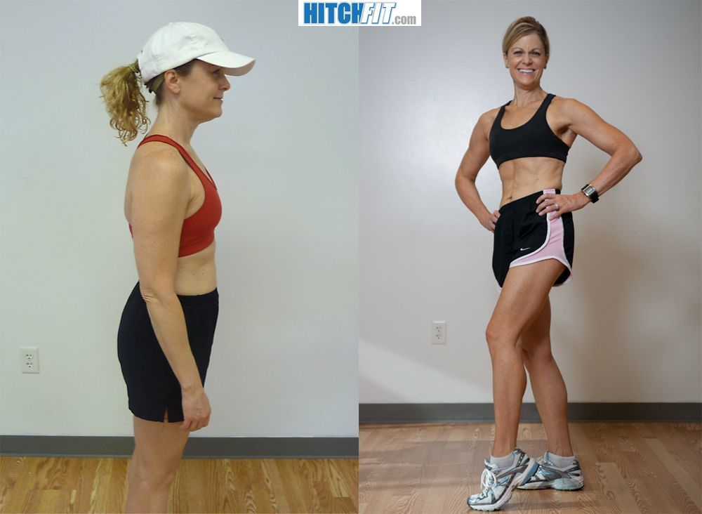10 Pound Weight Loss Before and After Side Pose