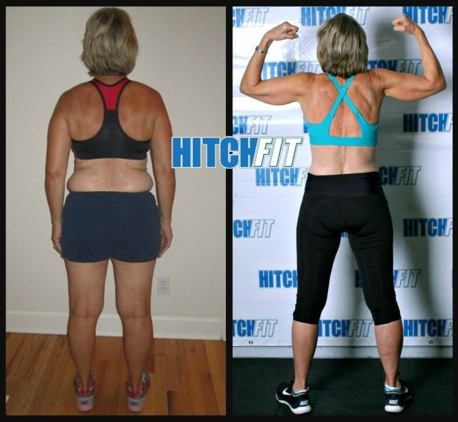 Before and After weight loss transformation photos - Nancy