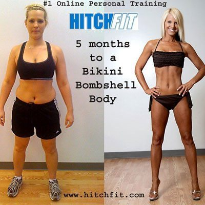 Hot Bikini Mom Brandi gets Bikini Model WBFF Competition Ready with Online Personal Trainers at HitchFit