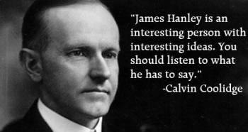 Calvin Coolidge on James Hanley