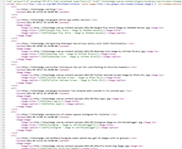 XML Sitemap Tutorial