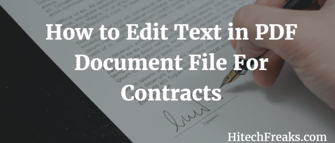 How to Edit Text in PDF Document Files For Contracts