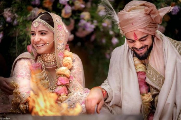 Virat Kohli and Anushka Sharma Marriage Picture