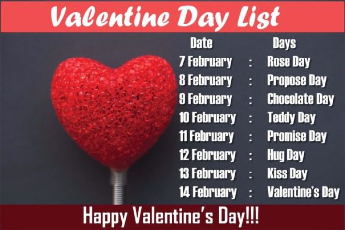 Valentine Week Datesheet